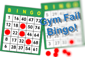 Trainingsfehler: Gym Fail Bingo