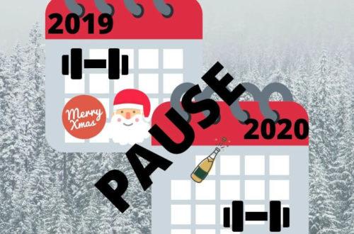 Zwei Kalender von 2019 und 2020, Training im alten und nach einer Pause im neuen Jahr